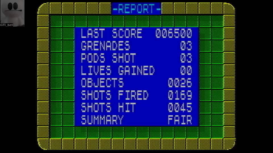GTibel: Scumball [Report: Grenades Collected * 1,000,000 + Final Score][Completion Bonus: 1,000,000] (ZX Spectrum Emulated) 3,006,500 points on 2016-08-14 00:09:44
