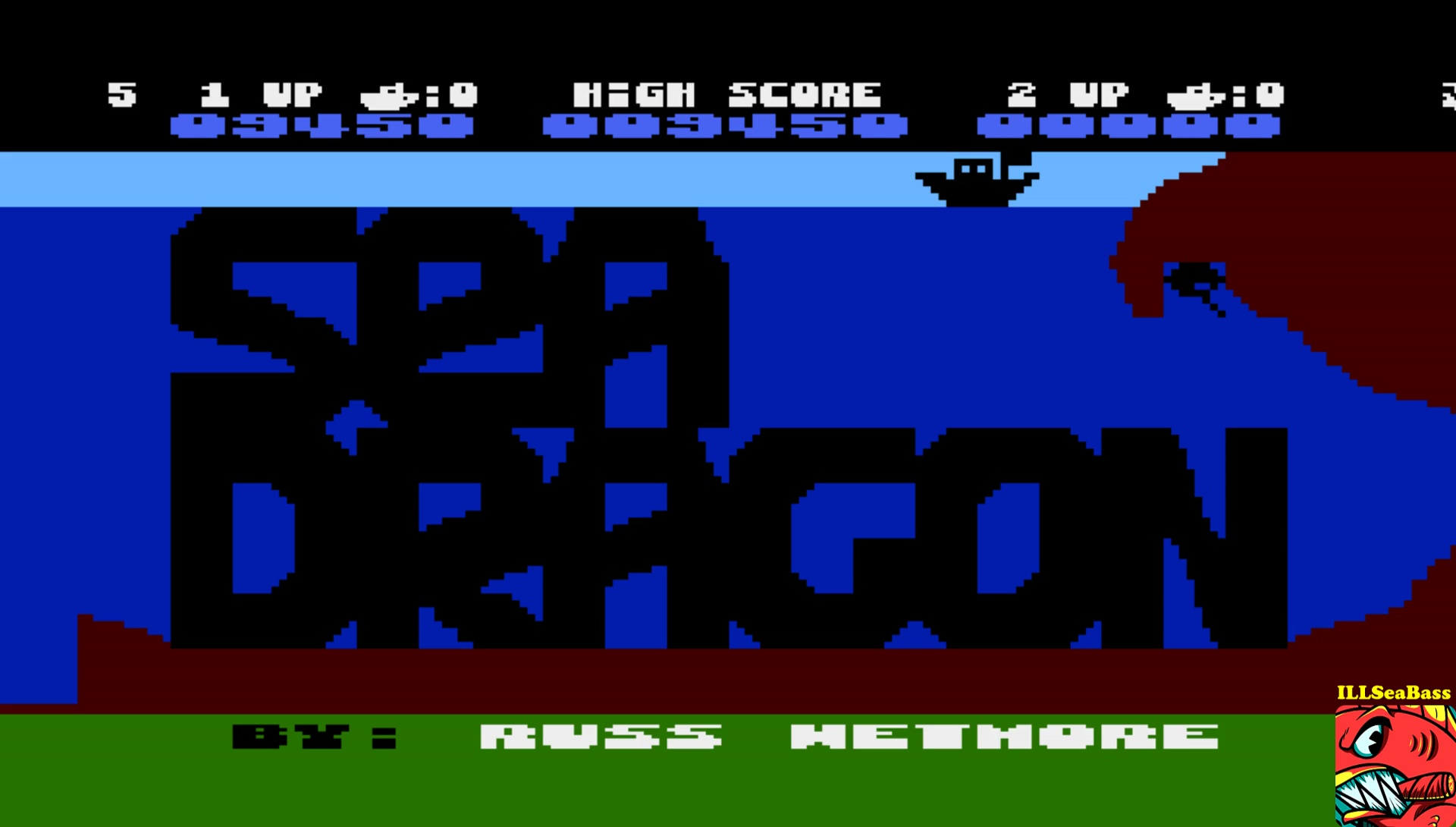 ILLSeaBass: Sea Dragon (Atari 400/800/XL/XE Emulated) 9,450 points on 2017-05-18 23:17:49