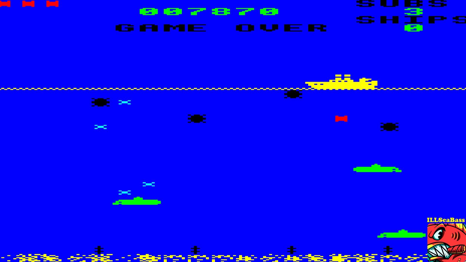 ILLSeaBass: Sea Wolf (BBC Micro Emulated) 7,870 points on 2017-10-12 22:38:19