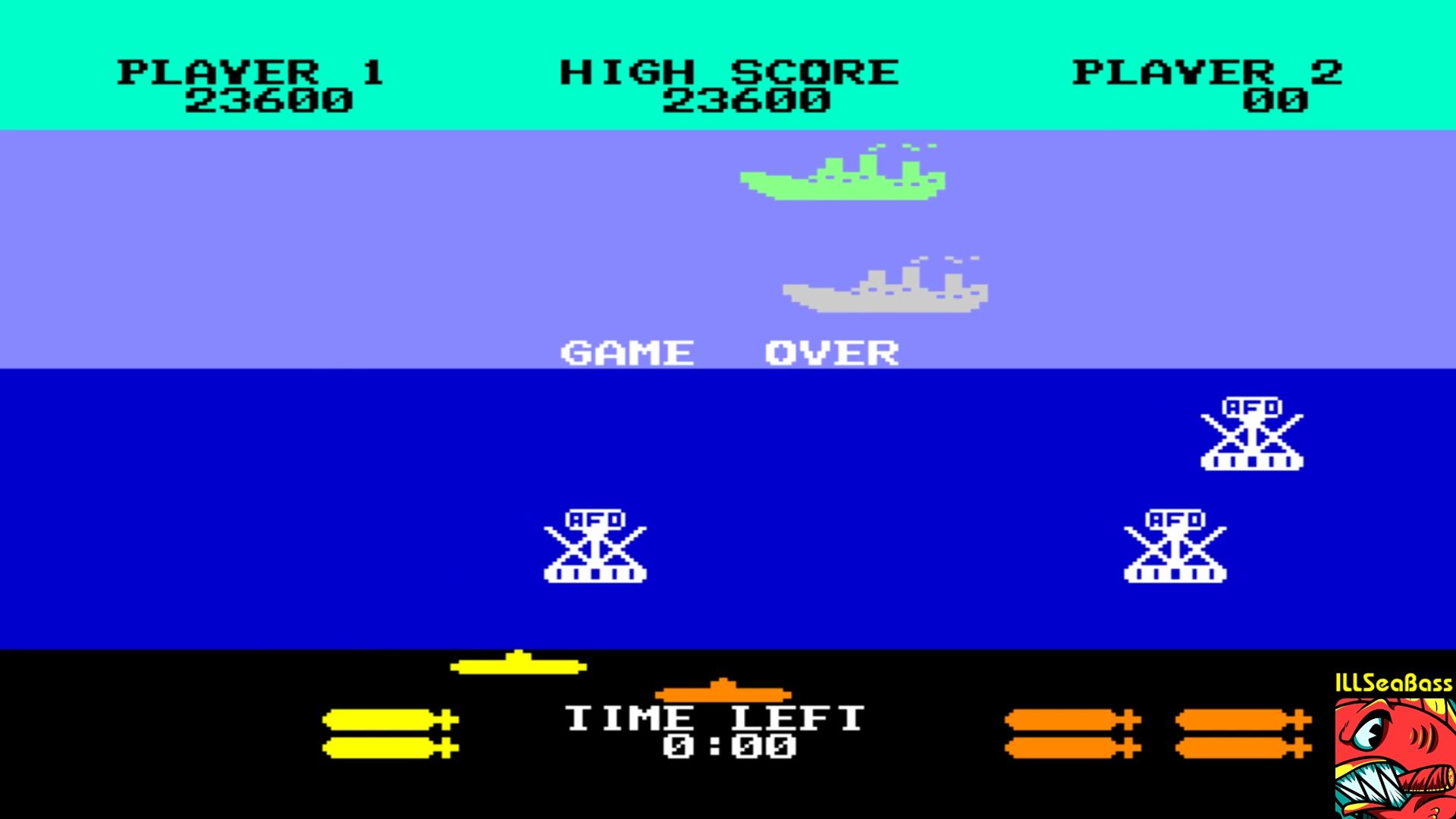 ILLSeaBass: Sea Wolf (Commodore 64 Emulated) 23,600 points on 2018-01-15 23:47:54
