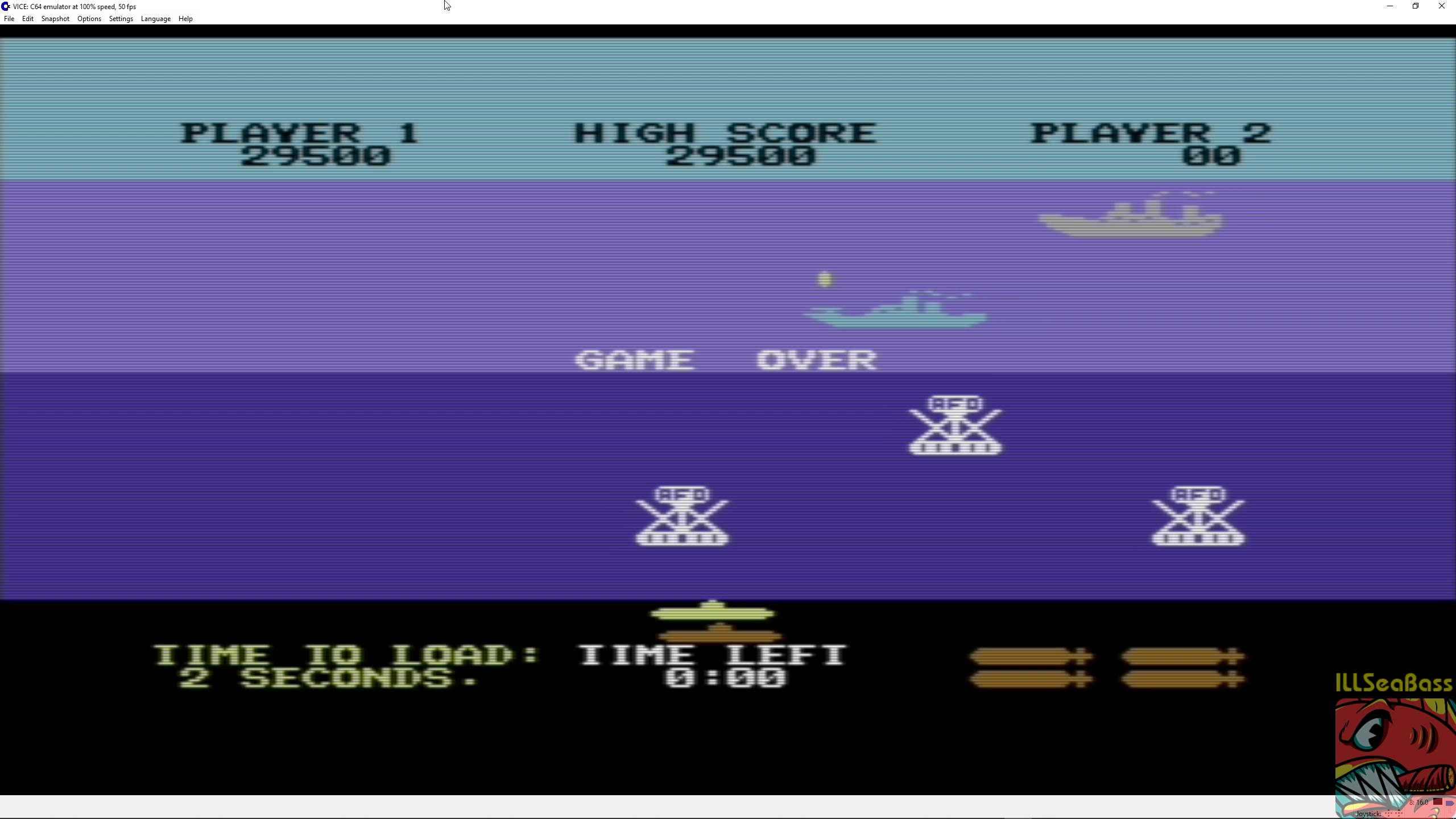 ILLSeaBass: Sea Wolf (Commodore 64 Emulated) 29,500 points on 2018-06-09 19:51:59