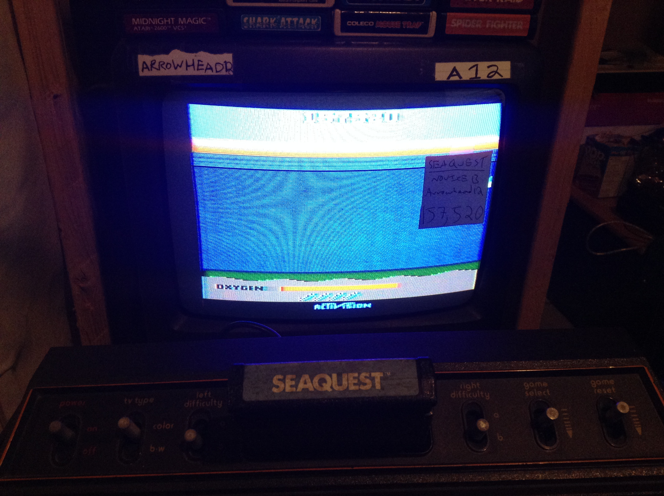 Arrowhead12: Seaquest (Atari 2600 Novice/B) 157,520 points on 2019-05-07 14:57:33