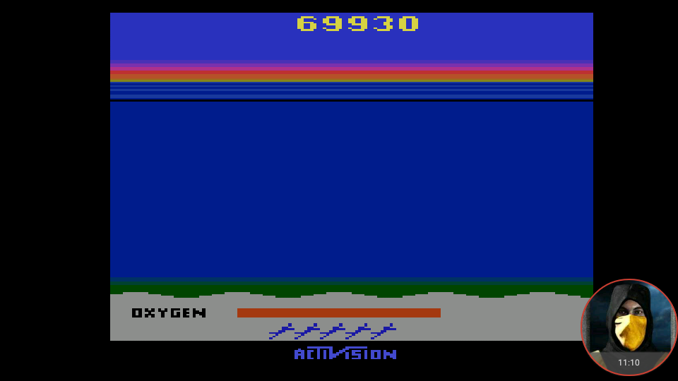 omargeddon: Seaquest (Atari 2600 Emulated Expert/A Mode) 69,930 points on 2018-03-03 12:17:19