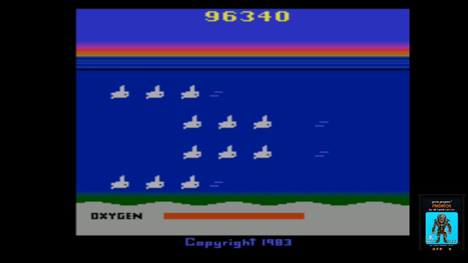 omargeddon: Seaquest (Atari 2600 Emulated Novice/B Mode) 96,340 points on 2017-06-25 10:24:02