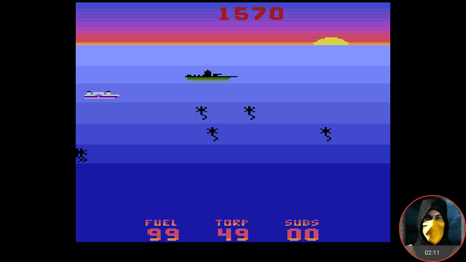 omargeddon: Seawolf (Atari 2600 Emulated Expert/A Mode) 1,570 points on 2018-05-27 23:45:19