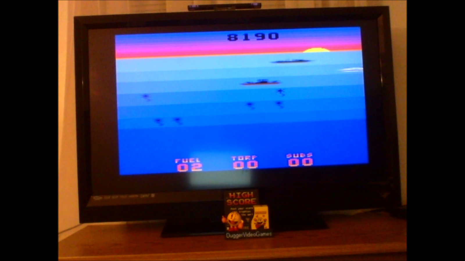 DuggerVideoGames: Seawolf (Atari 2600 Emulated Novice/B Mode) 8,190 points on 2017-01-17 00:44:09