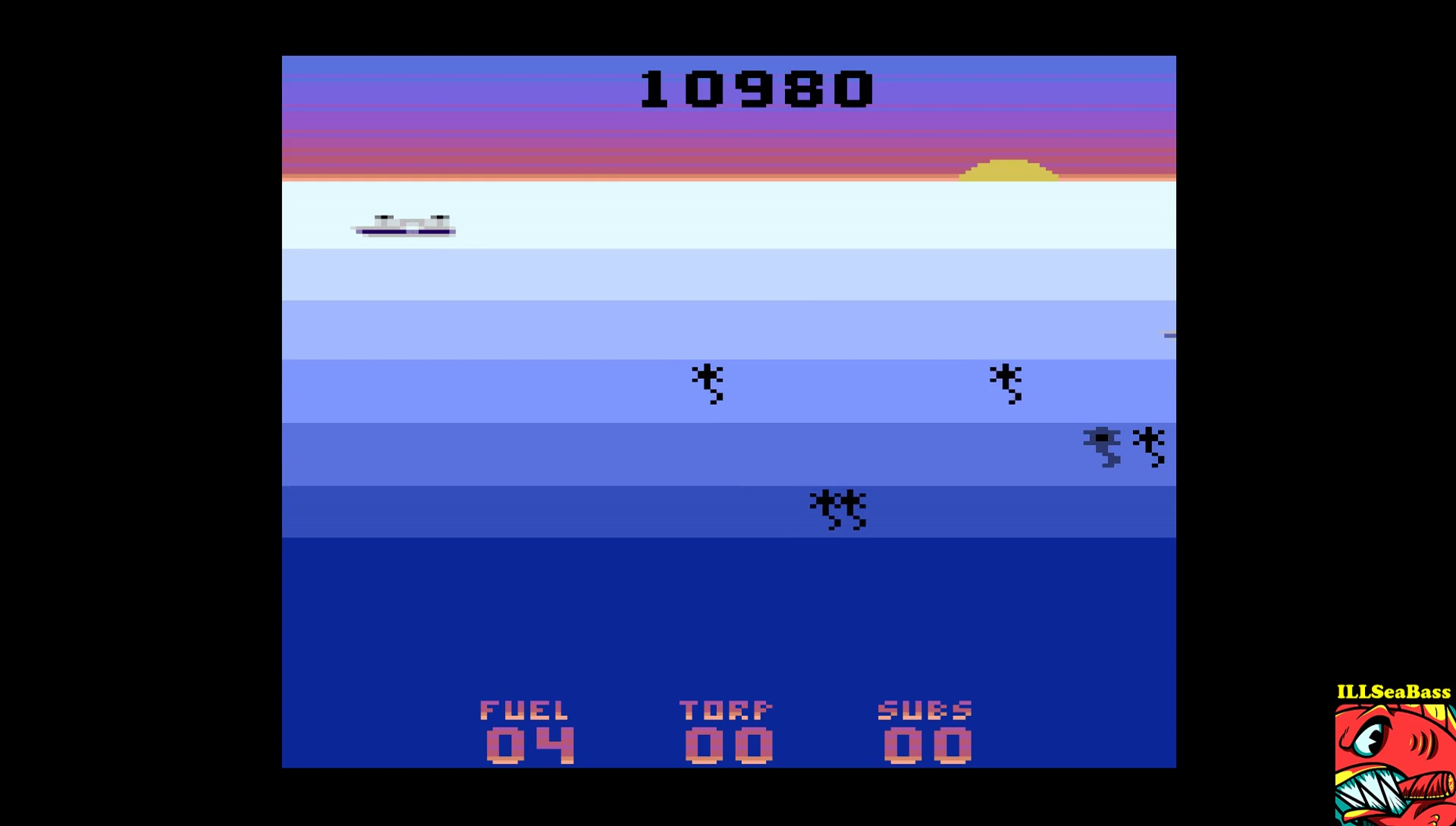 ILLSeaBass: Seawolf (Atari 2600 Emulated Novice/B Mode) 10,980 points on 2017-03-20 12:19:24