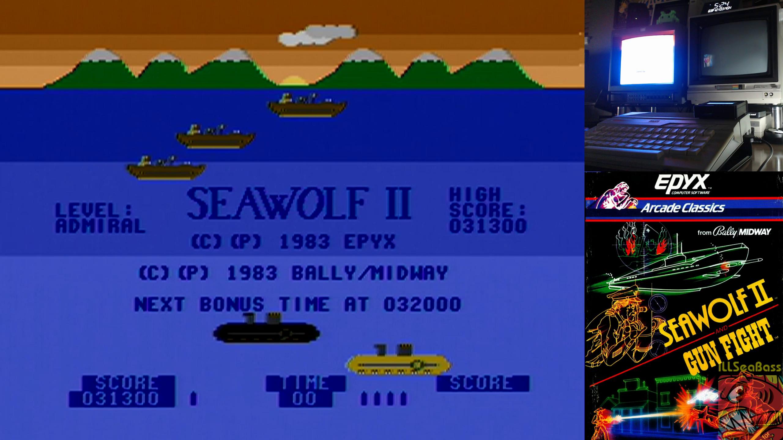 ILLSeaBass: Seawolf II (Atari 400/800/XL/XE) 31,300 points on 2018-12-04 09:57:02
