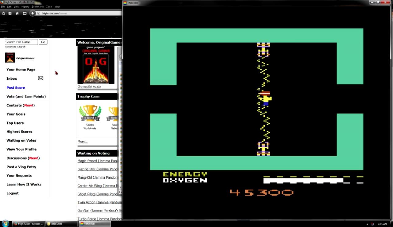 OriginalGamer: Secret Quest (Atari 2600 Emulated Novice/B Mode) 45,300 points on 2017-10-30 00:41:05