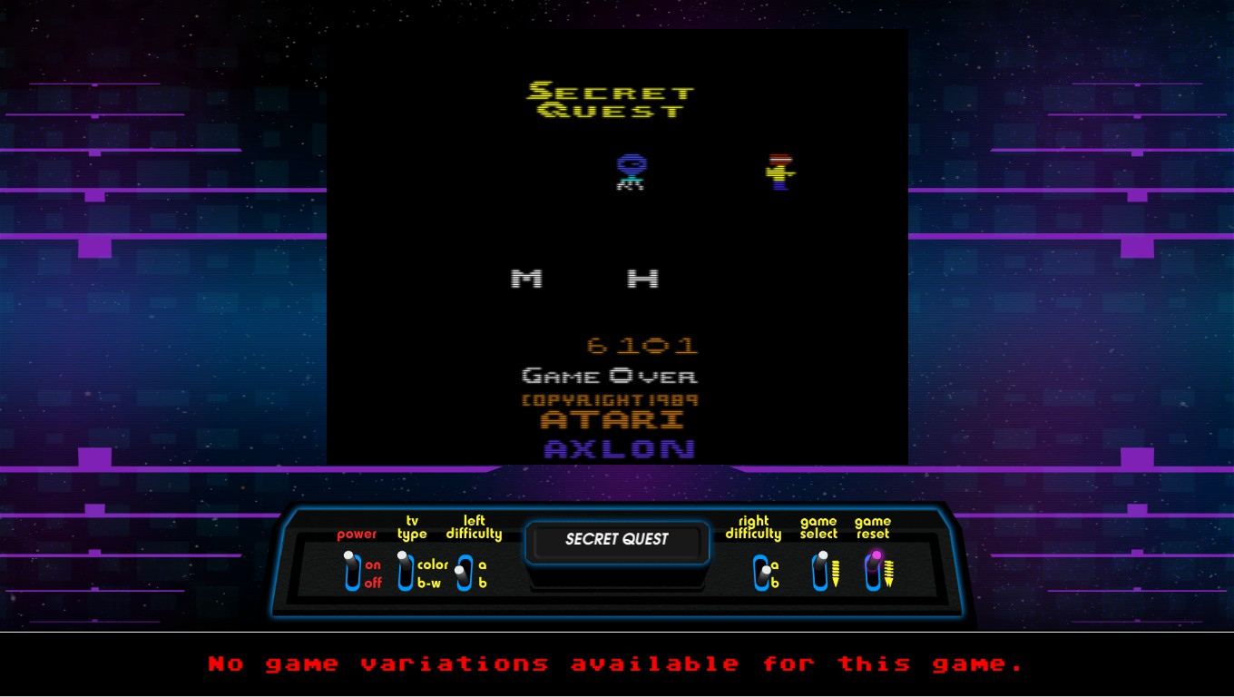 Mark: Secret Quest (Atari 2600 Emulated Novice/B Mode) 6,101 points on 2019-01-09 04:16:34