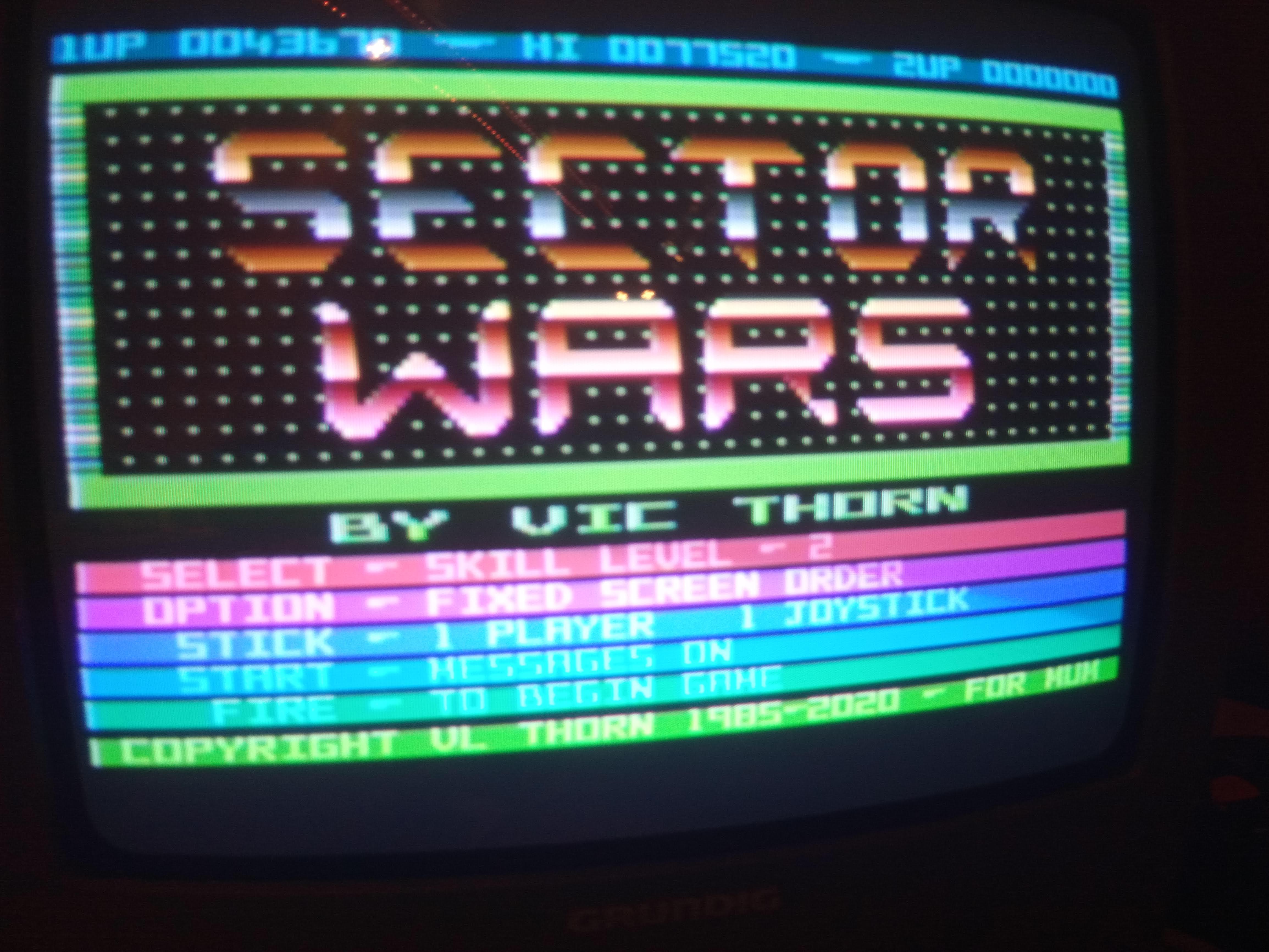 Bunsen: Sector Wars [Skill Level 1] (Atari 400/800/XL/XE) 77,520 points on 2020-07-09 15:39:42