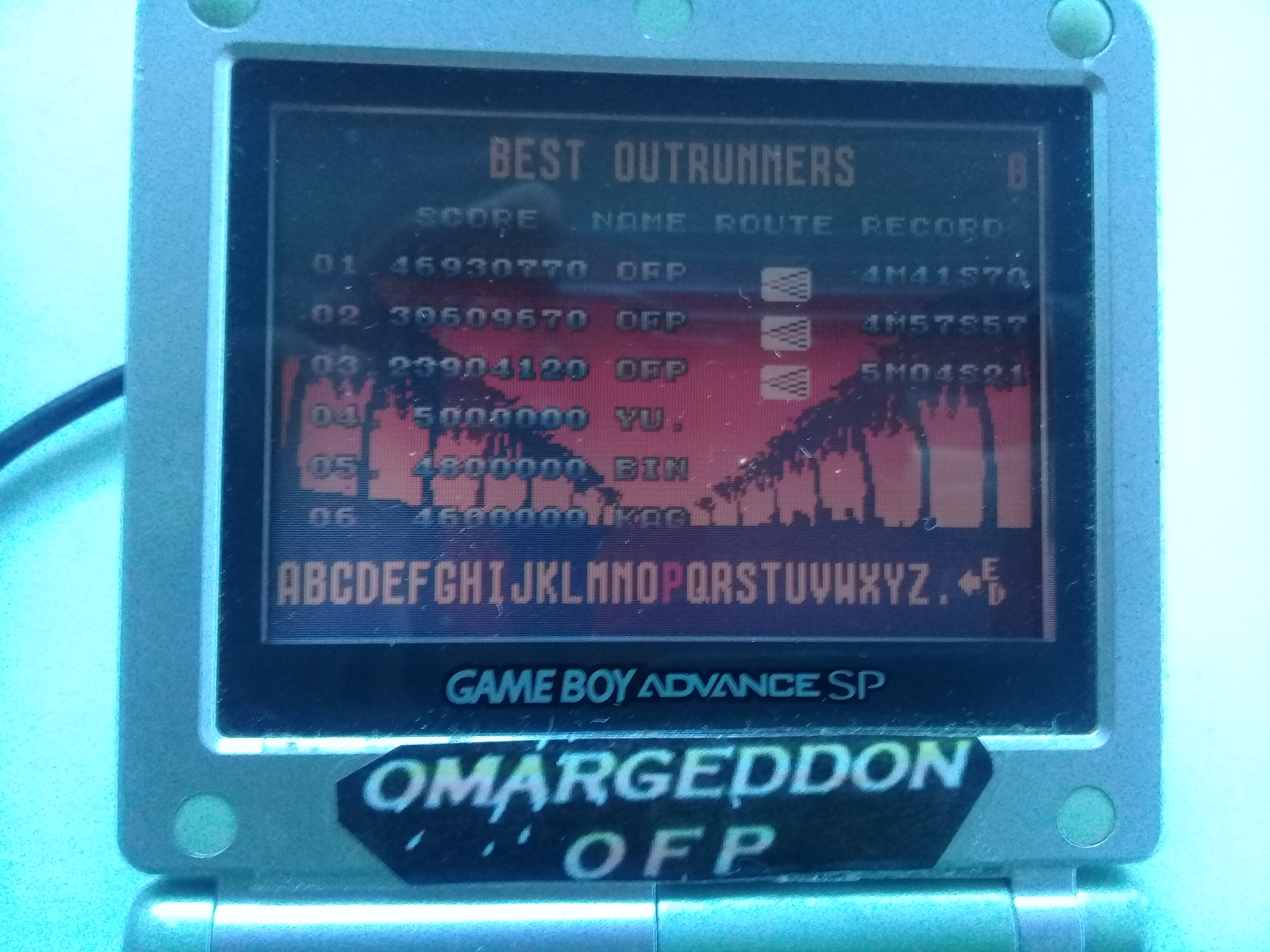 omargeddon: Sega Arcade Gallery: Outrun (GBA) 46,930,770 points on 2018-12-01 16:26:05