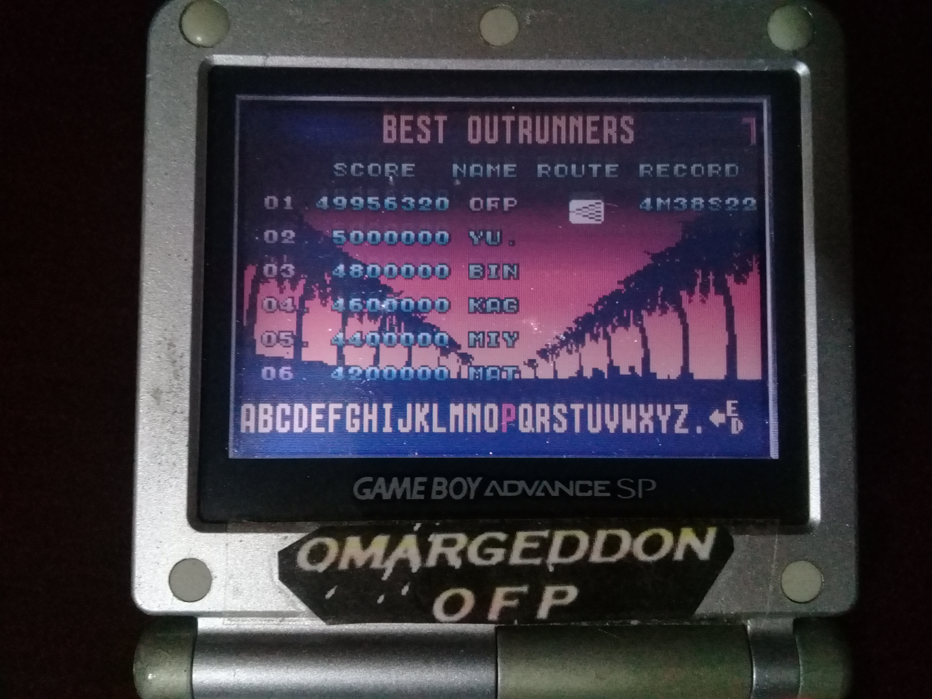 omargeddon: Sega Arcade Gallery: Outrun (GBA) 49,956,320 points on 2020-06-02 16:41:40