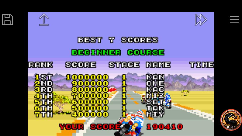 omargeddon: Sega Arcade Gallery: Super Hang-On (GBA Emulated) 190,410 points on 2019-02-05 17:30:56