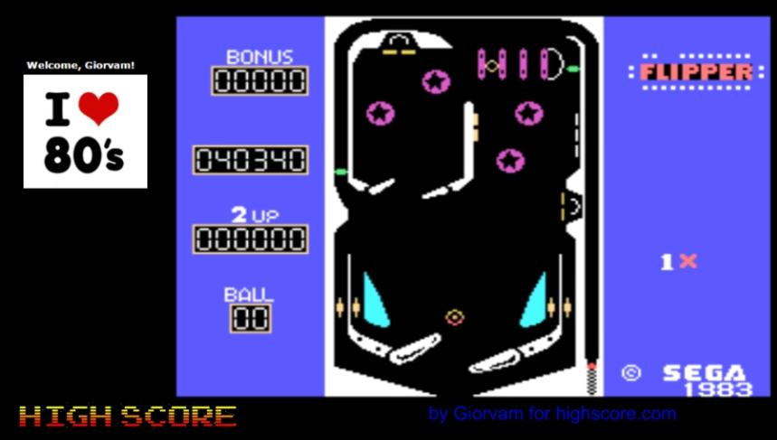 Sega Flipper 40,340 points