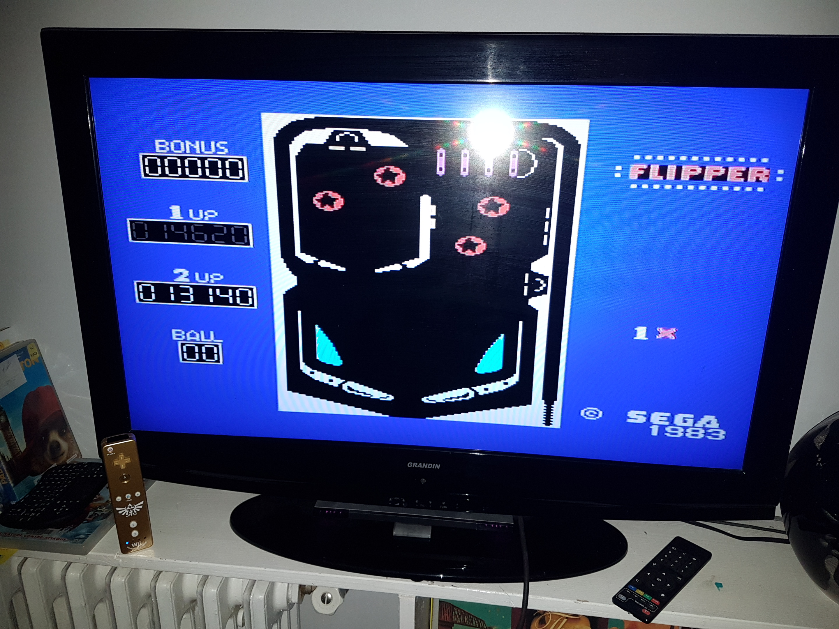 EddieNiceguy: Sega Flipper (Sega SG-1000 Emulated) 14,620 points on 2019-01-18 17:52:54