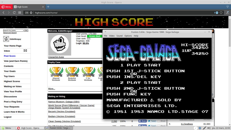 Sega-Galaga 34,280 points
