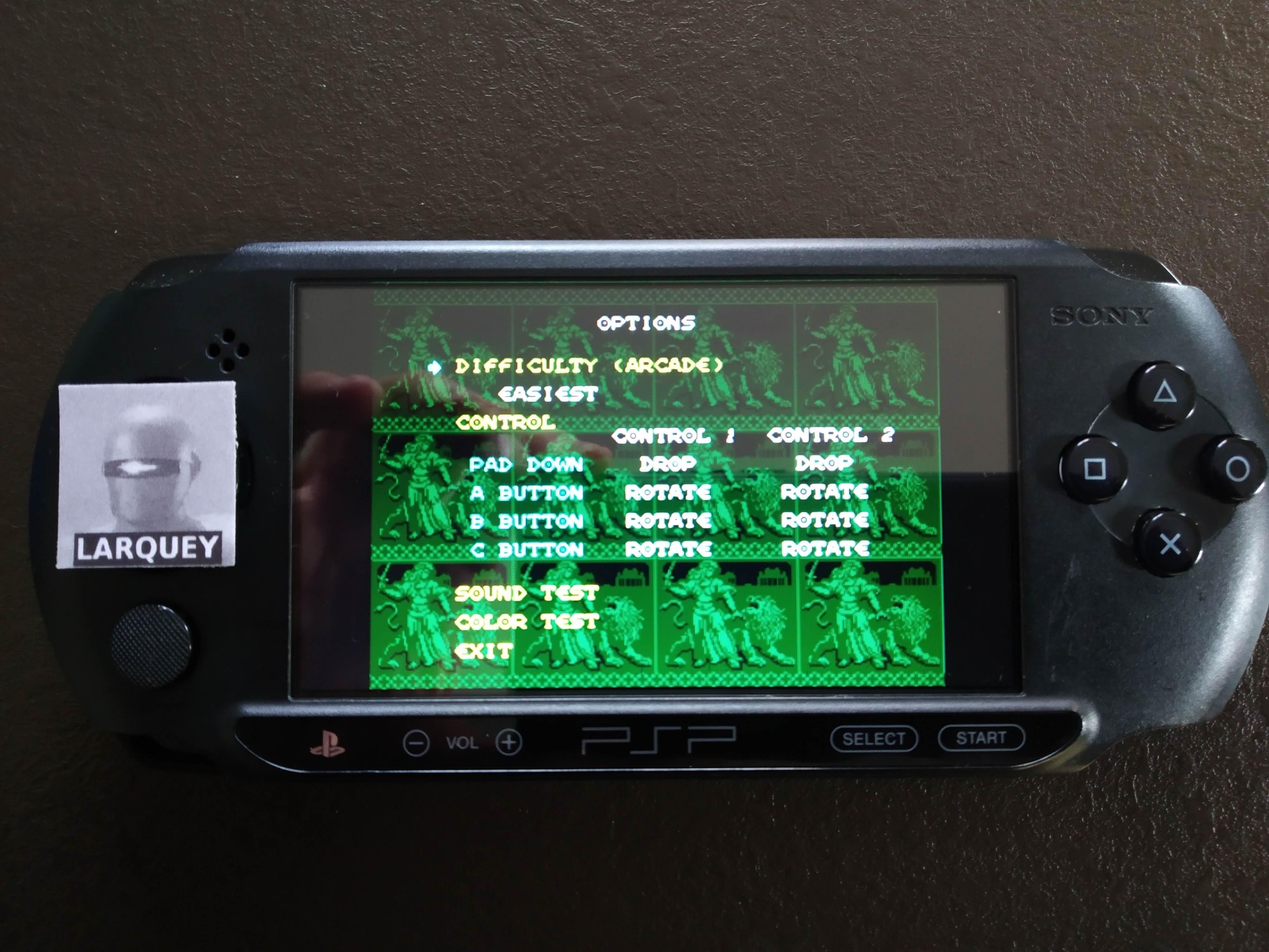Larquey: Sega Genesis/Mega Drive Collection: Columns Arcade [Easiest] (PSP) 12,581 points on 2019-12-27 02:53:24