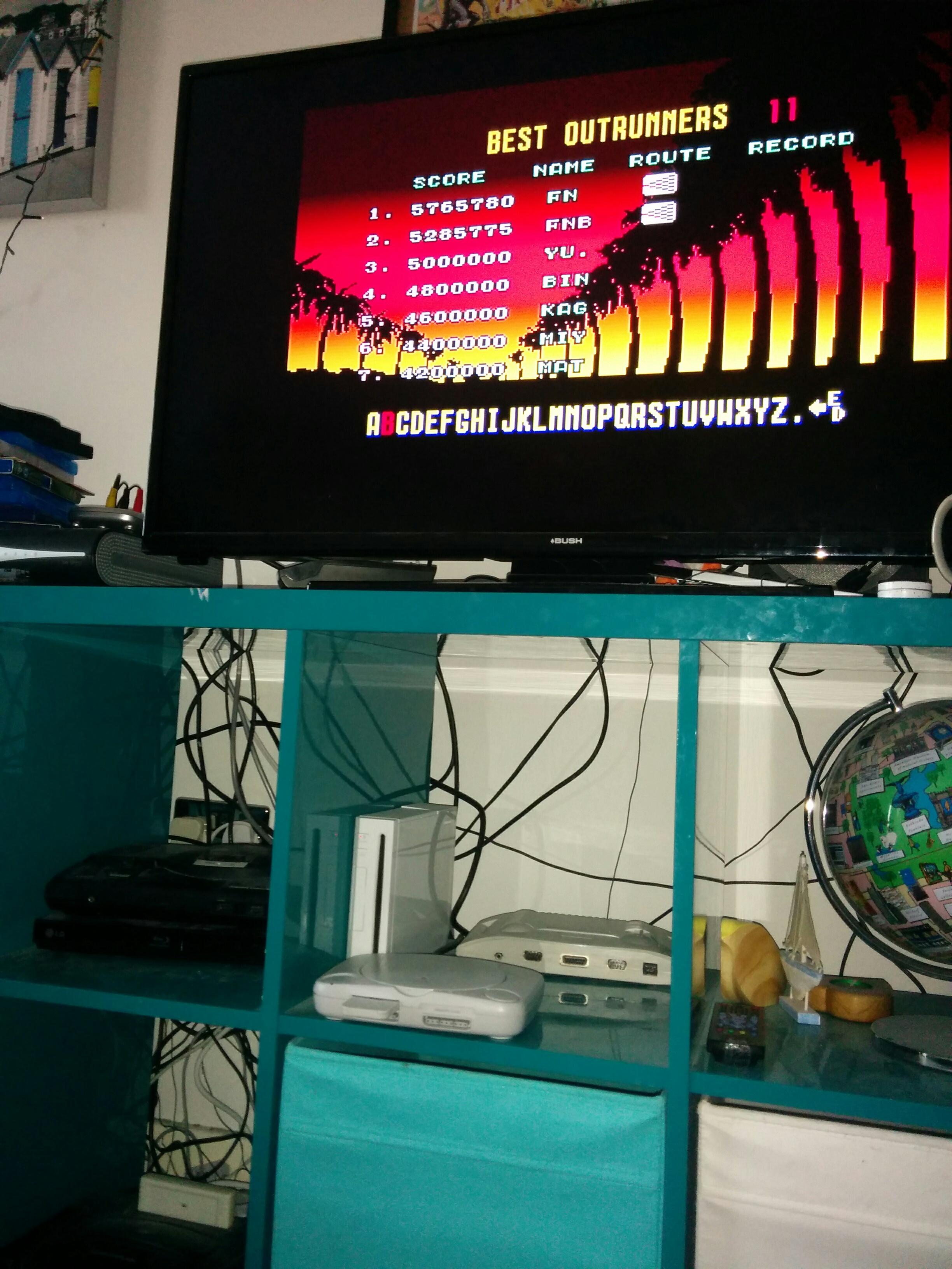 Sega Ages: Outrun 5,765,780 points