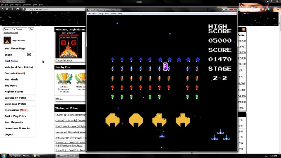 OriginalGamer: Sexy Invaders (NES/Famicom Emulated) 1,470 points on 2016-09-19 01:22:49