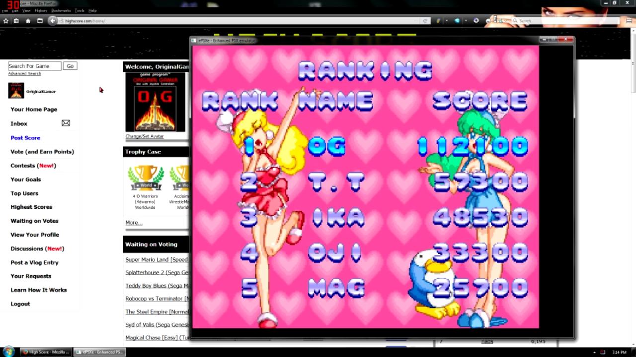 OriginalGamer: Sexy Parodius (Playstation 1 Emulated) 112,100 points on 2015-11-23 18:47:03