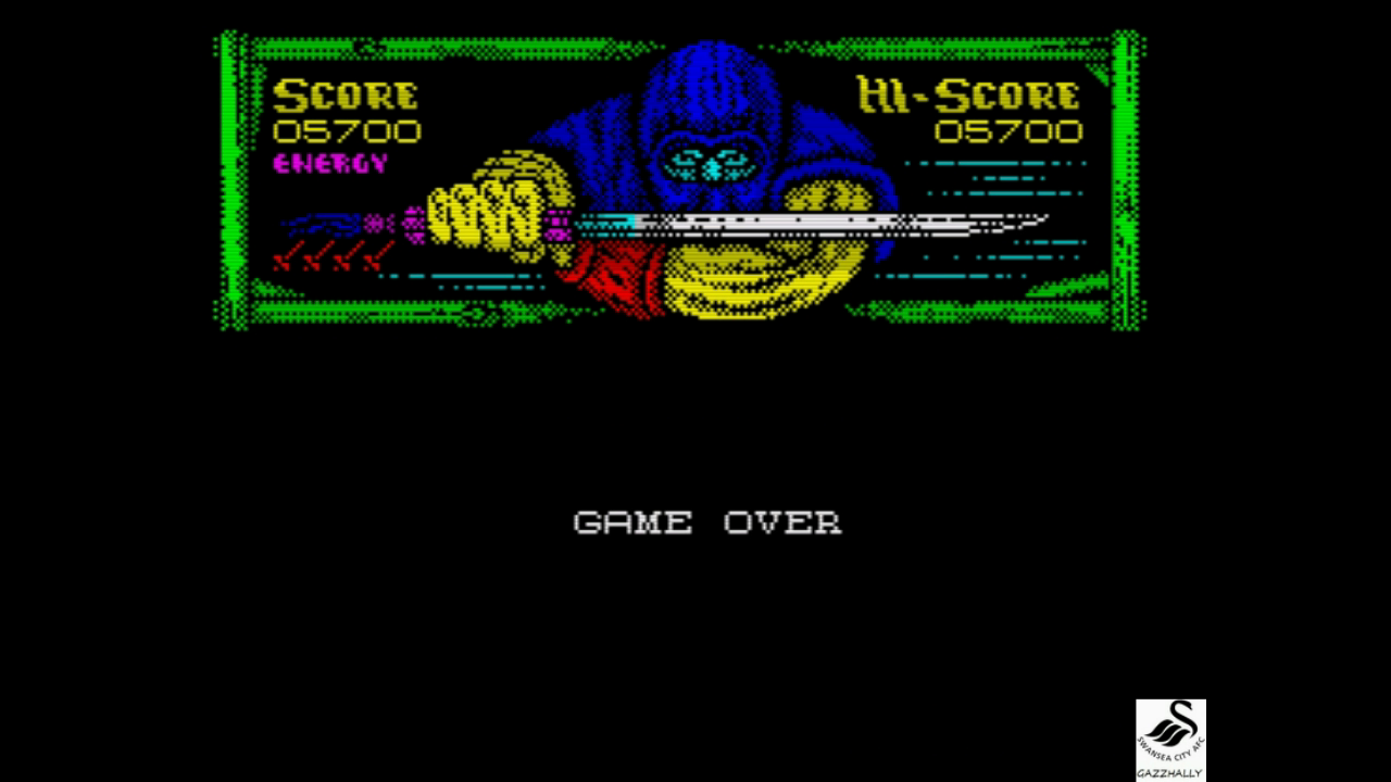 gazzhally: Shadow Warriors (ZX Spectrum Emulated) 5,700 points on 2017-07-22 09:22:45