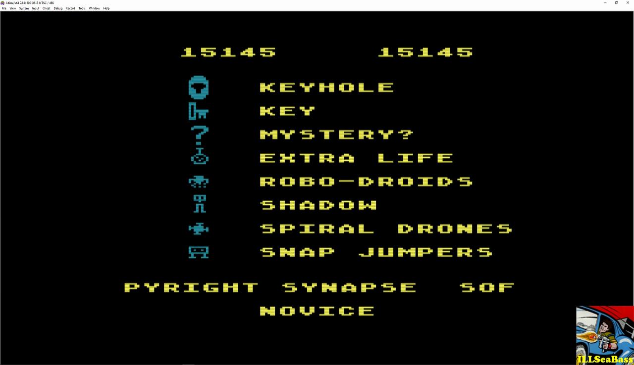 ILLSeaBass: Shamus (Atari 400/800/XL/XE Emulated) 15,145 points on 2016-12-21 20:49:14