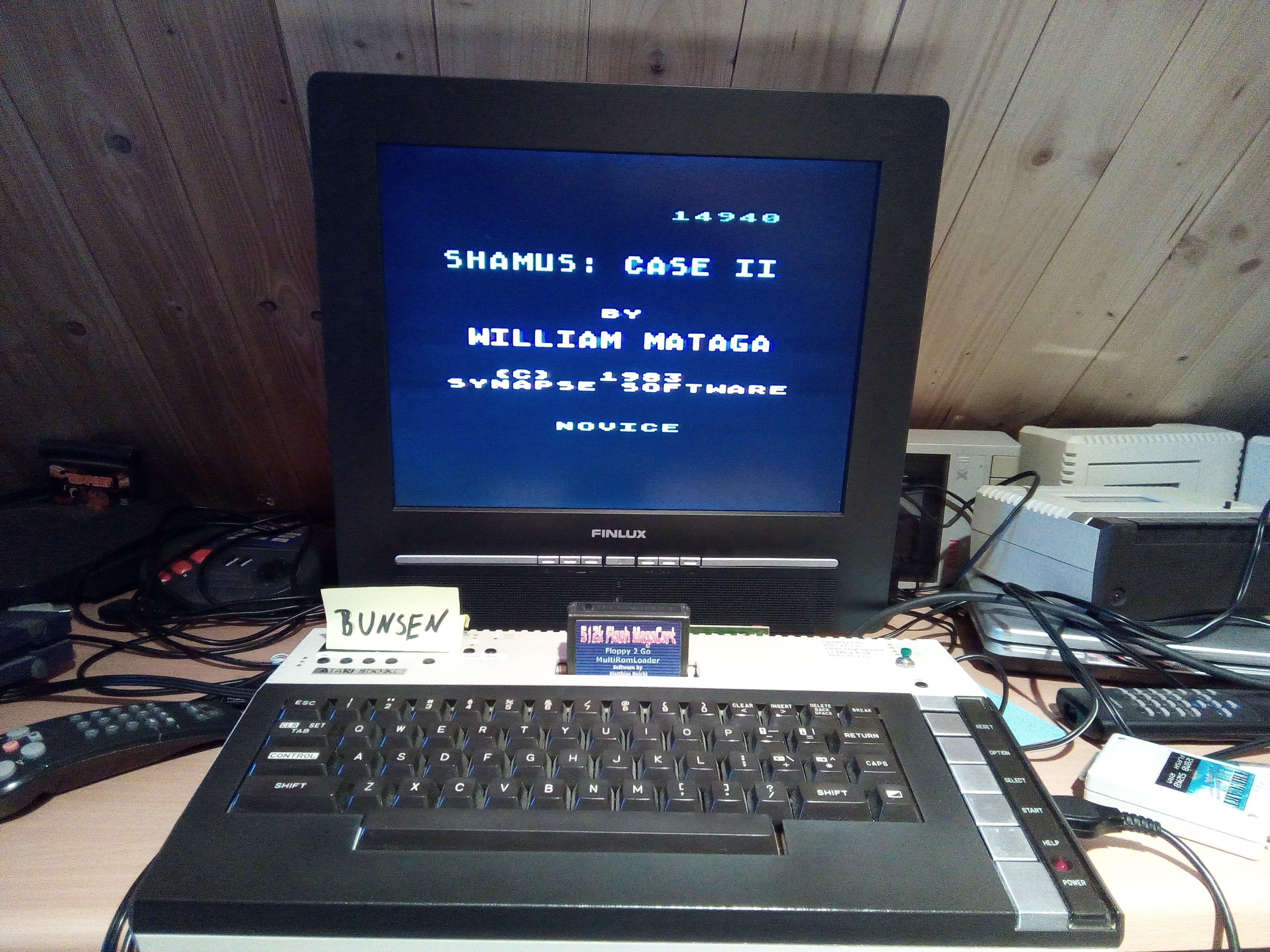 Bunsen: Shamus Case II [Novice] (Atari 400/800/XL/XE) 14,940 points on 2021-04-16 14:13:22