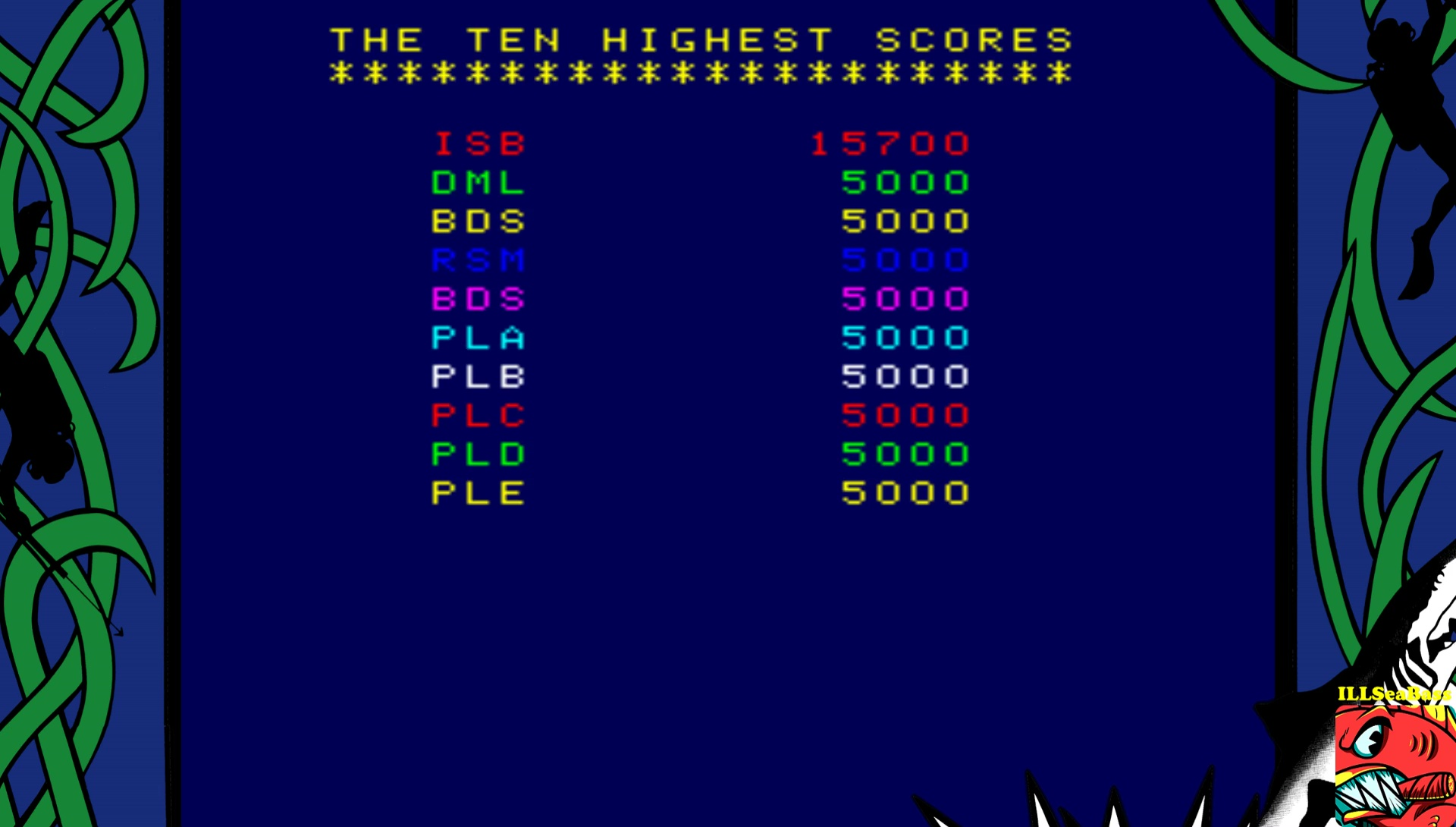 ILLSeaBass: Shark Attack (Arcade Emulated / M.A.M.E.) 15,700 points on 2017-08-06 11:02:47