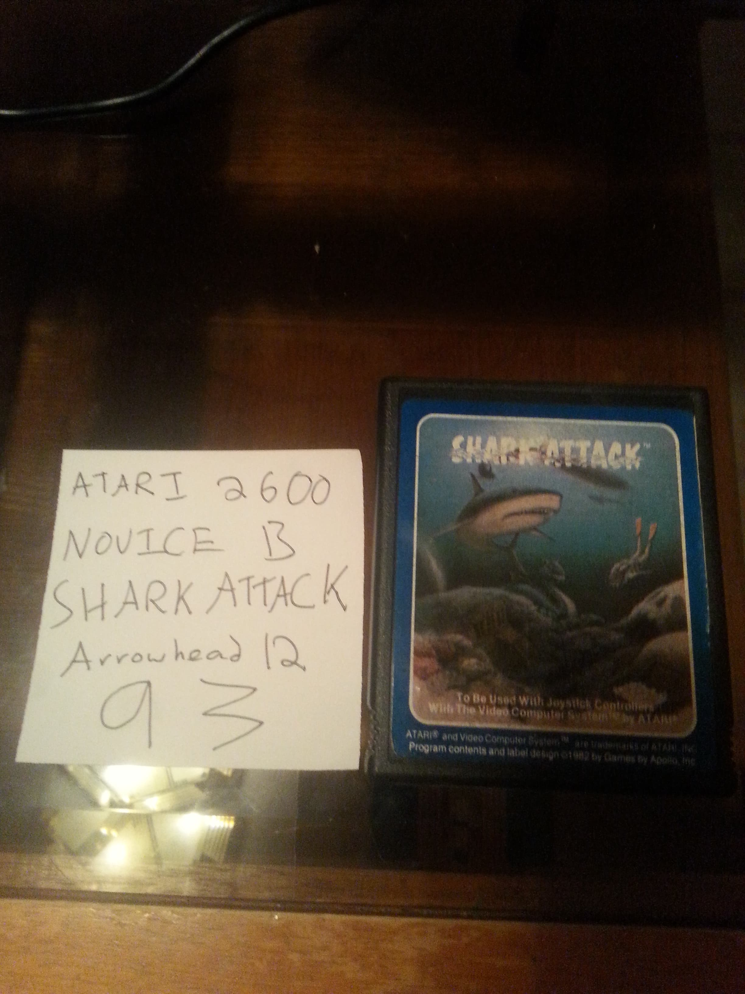 Arrowhead12: Shark Attack (Atari 2600 Novice/B) 93 points on 2018-09-26 01:52:06