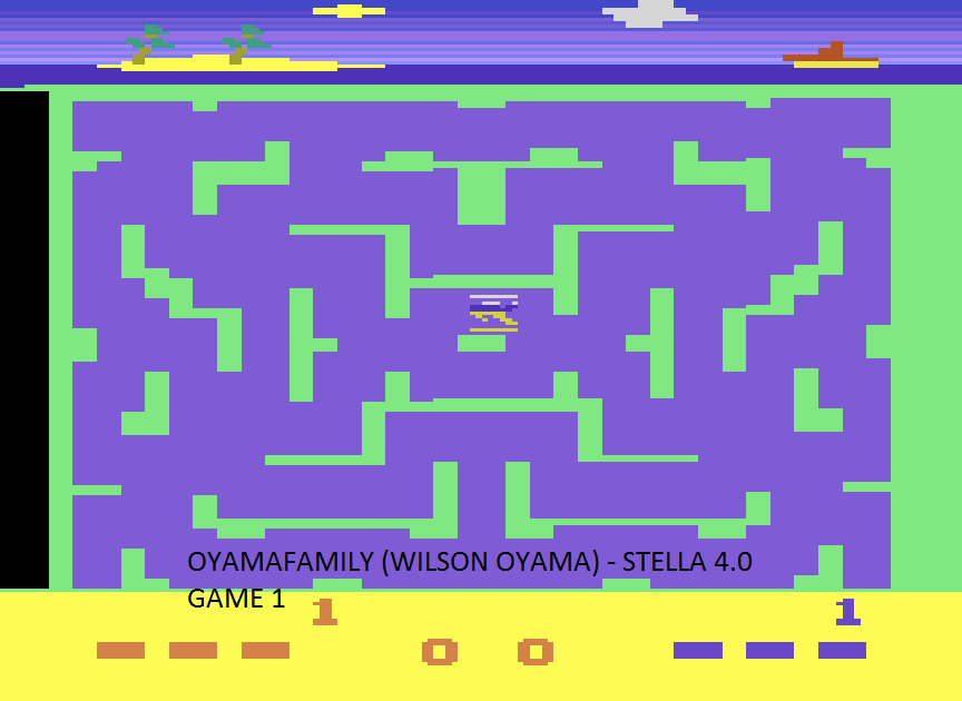 oyamafamily: Shark Attack  (Atari 2600 Emulated Expert/A Mode) 70 points on 2015-08-16 12:50:26