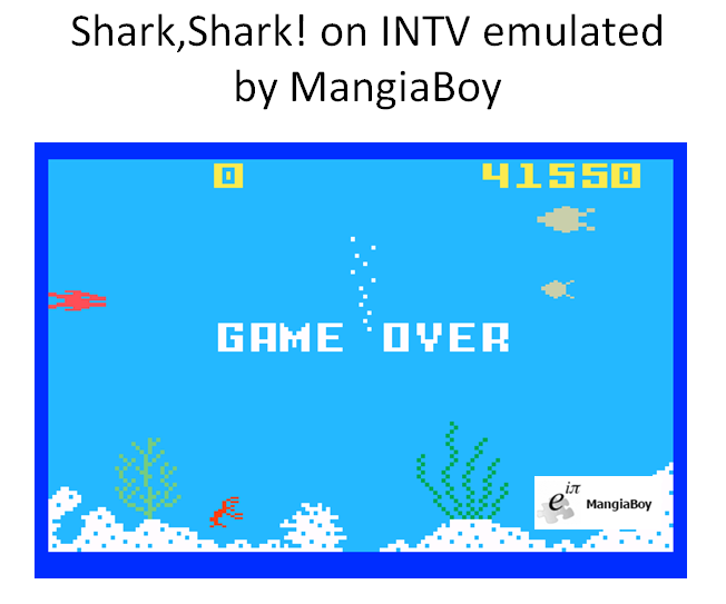 MangiaBoy: Shark! Shark!: Normal Mode (Intellivision Emulated) 41,550 points on 2016-03-28 14:21:56