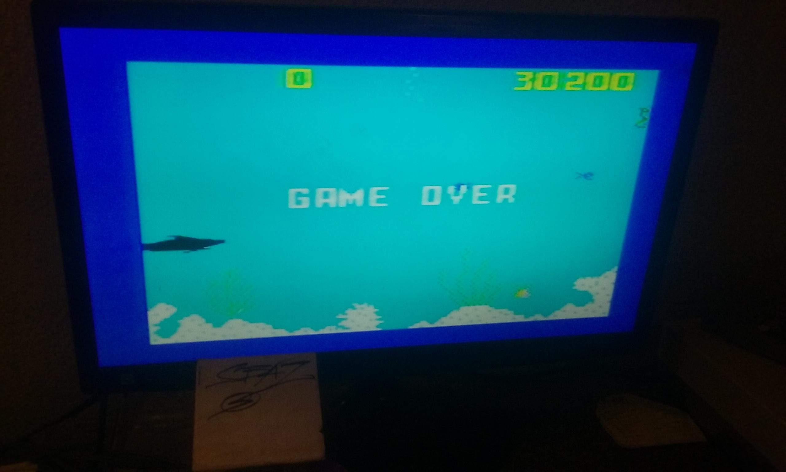 S.BAZ: Shark! Shark!: Normal Mode (Intellivision) 30,200 points on 2017-12-04 23:22:04