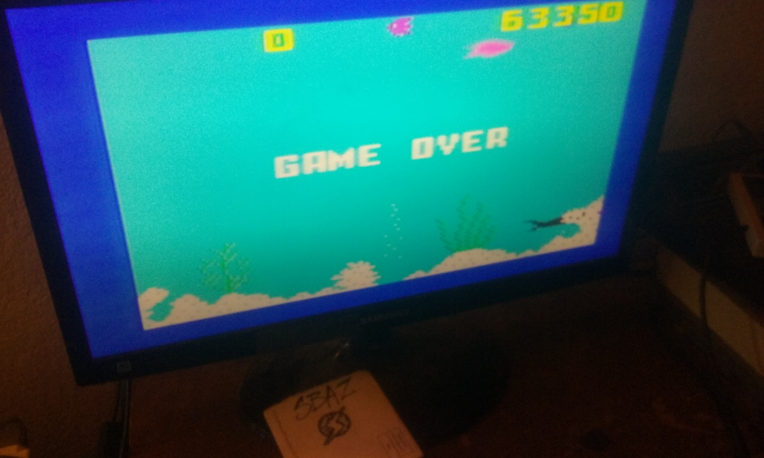 S.BAZ: Shark! Shark!: Normal Mode (Intellivision) 63,350 points on 2018-02-26 05:12:29