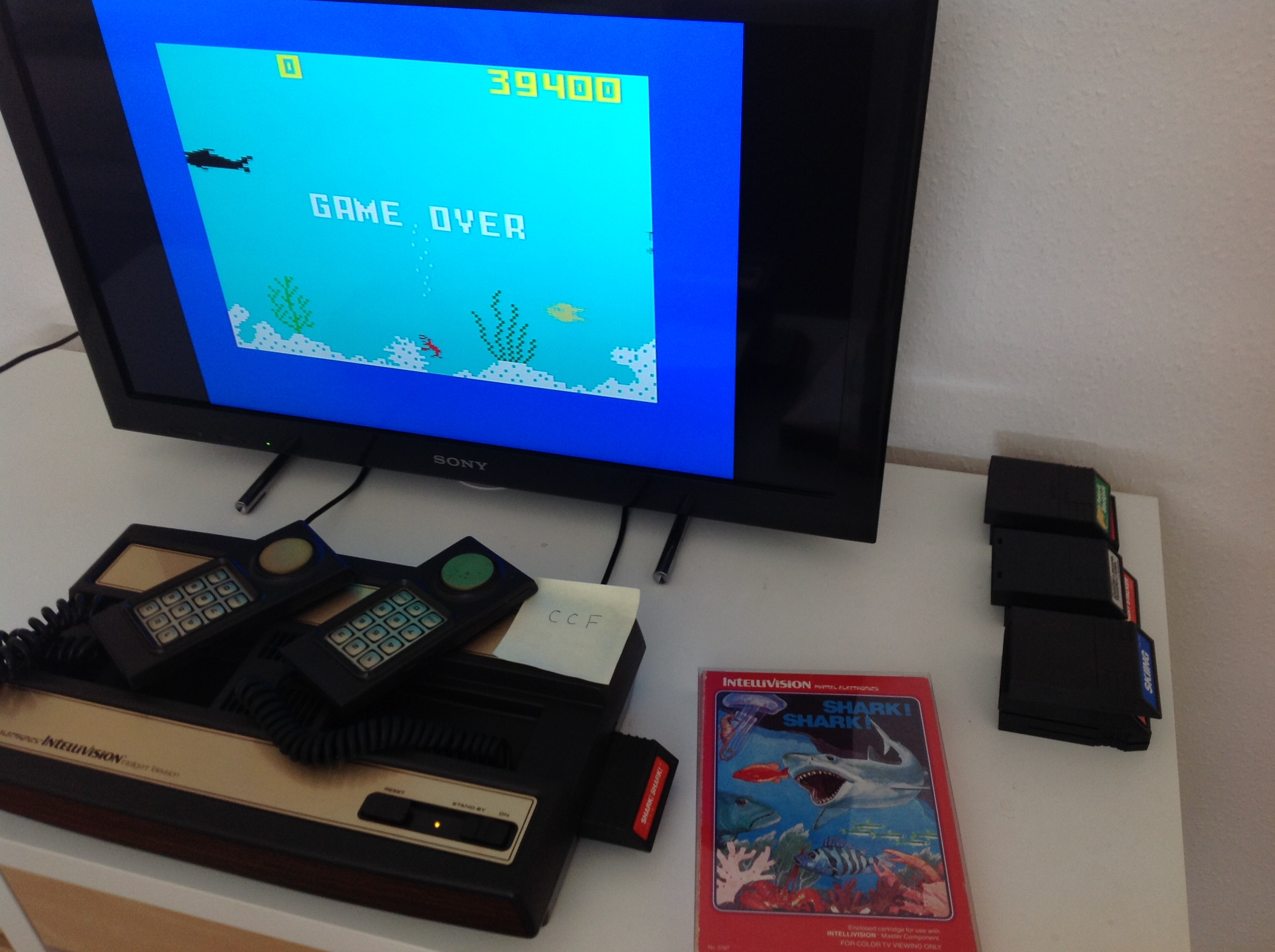 CoCoForest: Shark! Shark!: Normal Mode (Intellivision) 39,400 points on 2018-08-23 06:48:20