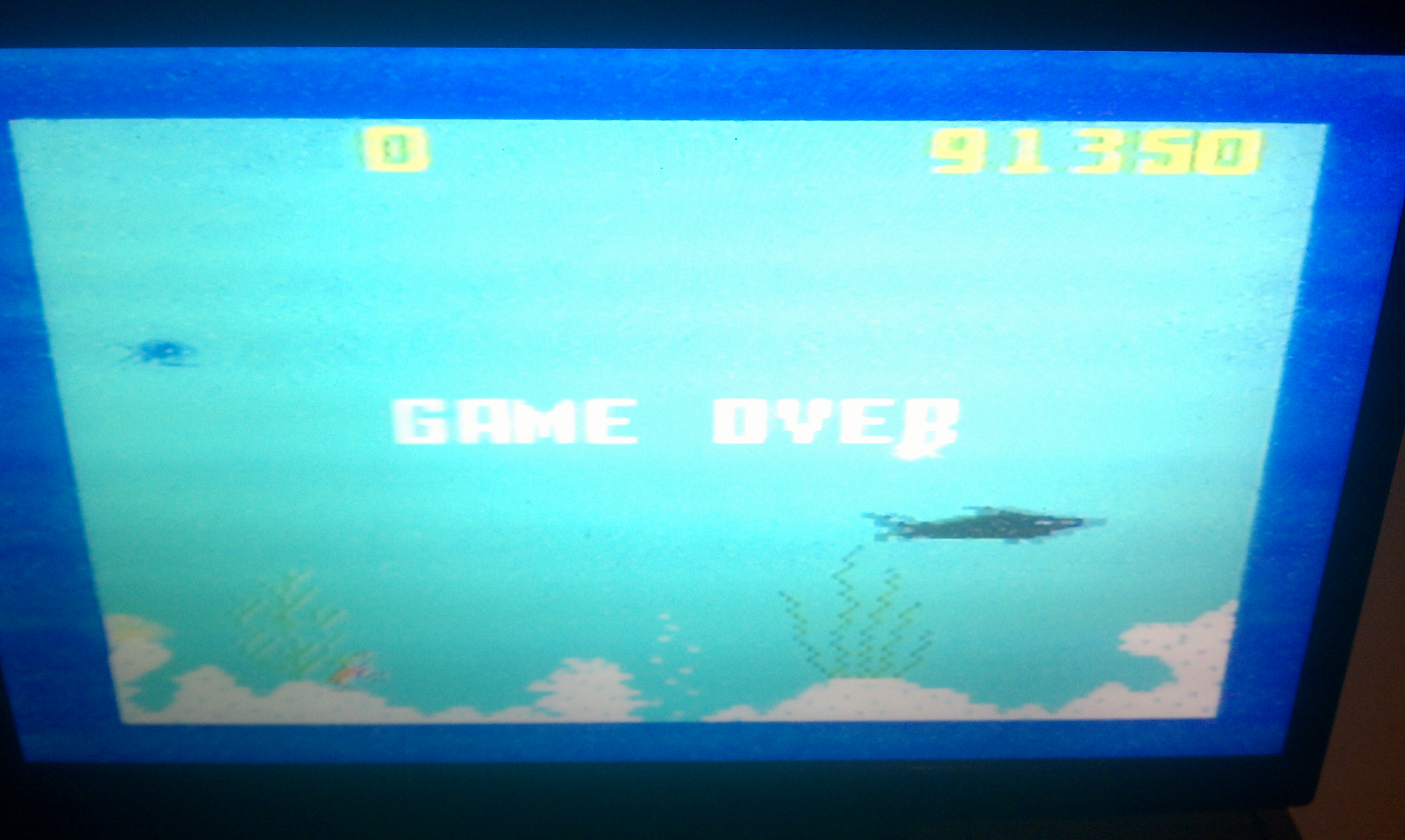 S.BAZ: Shark! Shark!: Normal Mode (Intellivision) 91,350 points on 2020-08-05 18:38:03