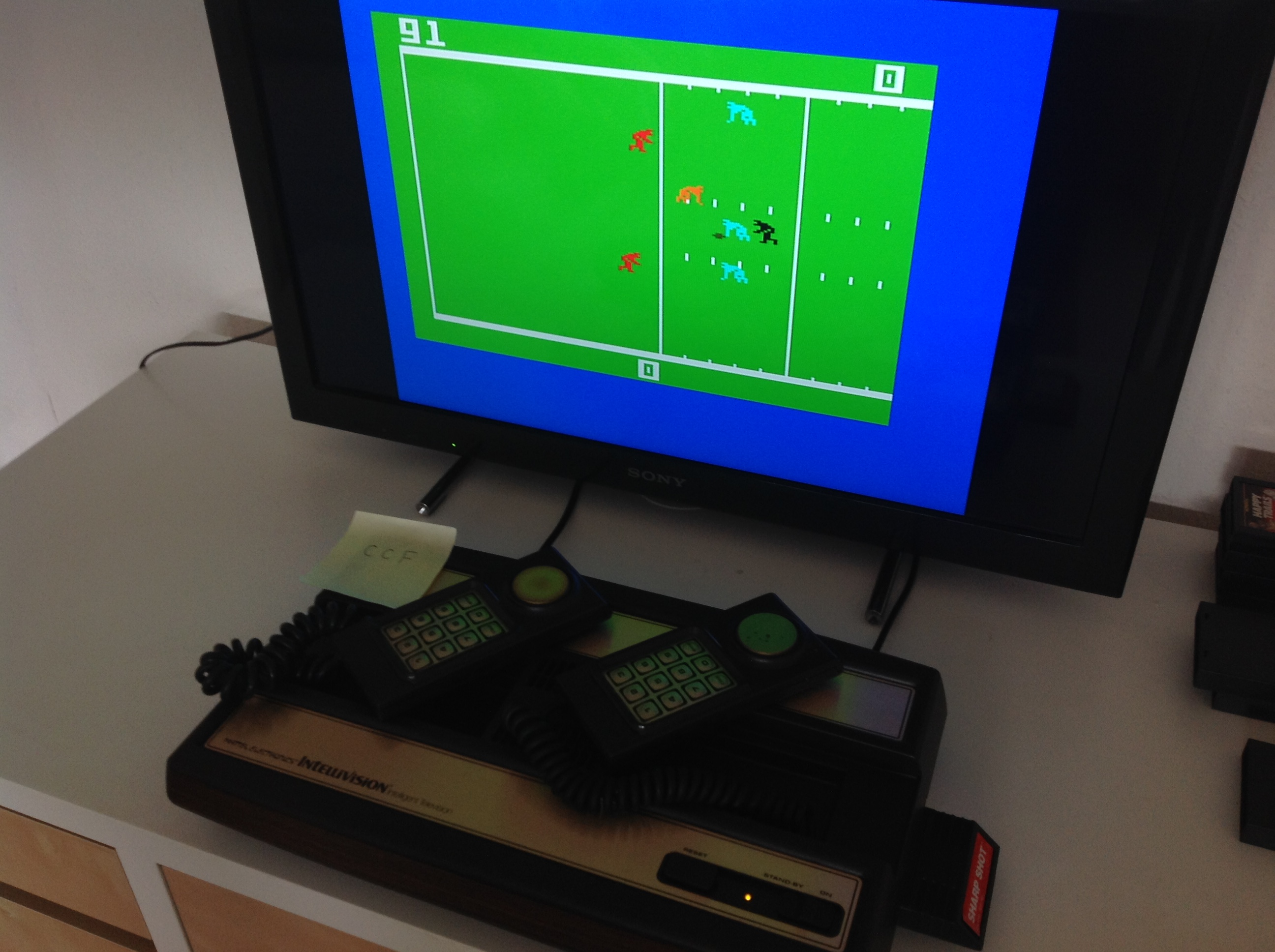 CoCoForest: Sharp Shot: Football (Intellivision) 91 points on 2018-08-20 10:59:23