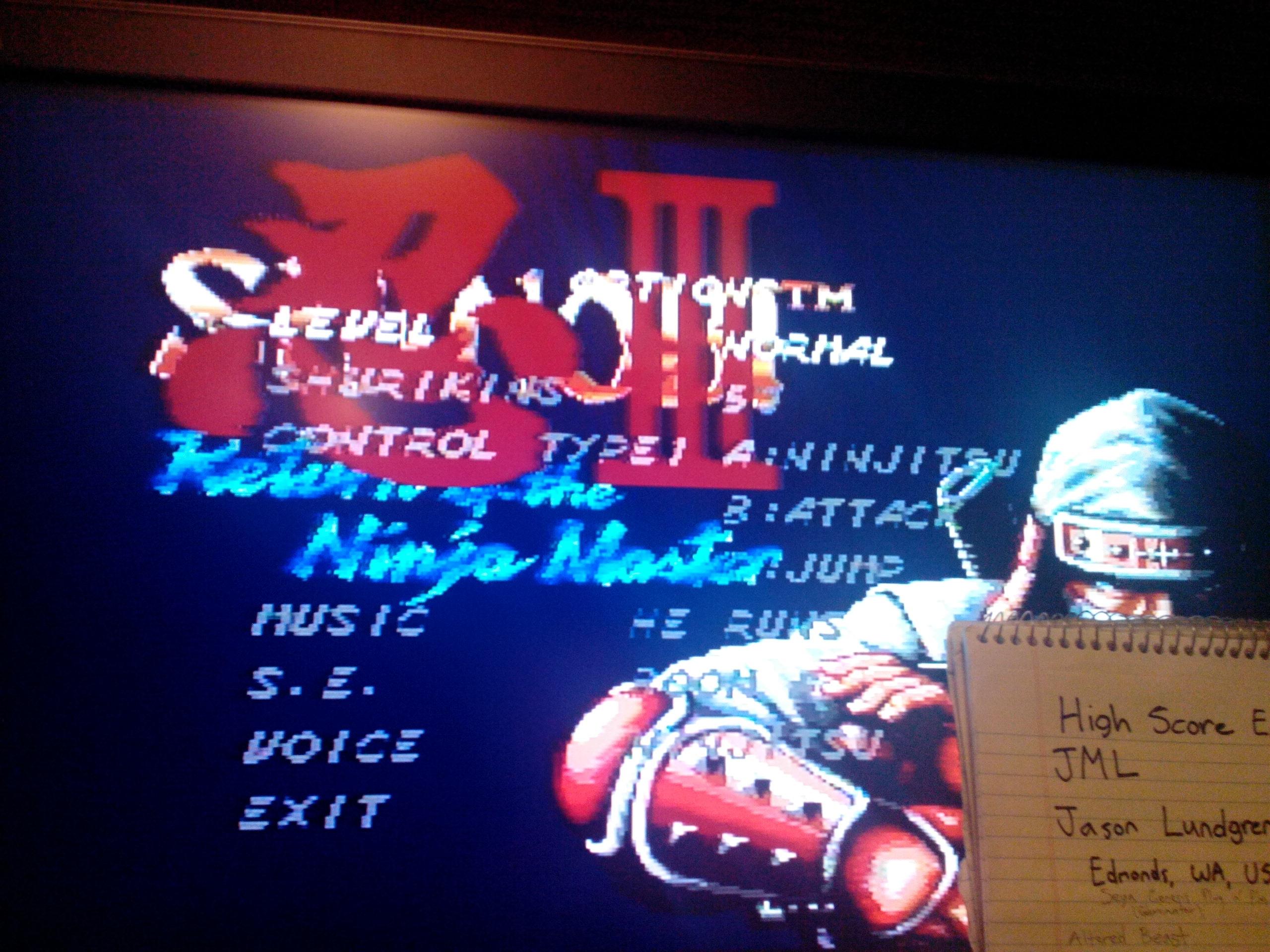 Shinobi III: Return of the Ninja Master 13,070 points