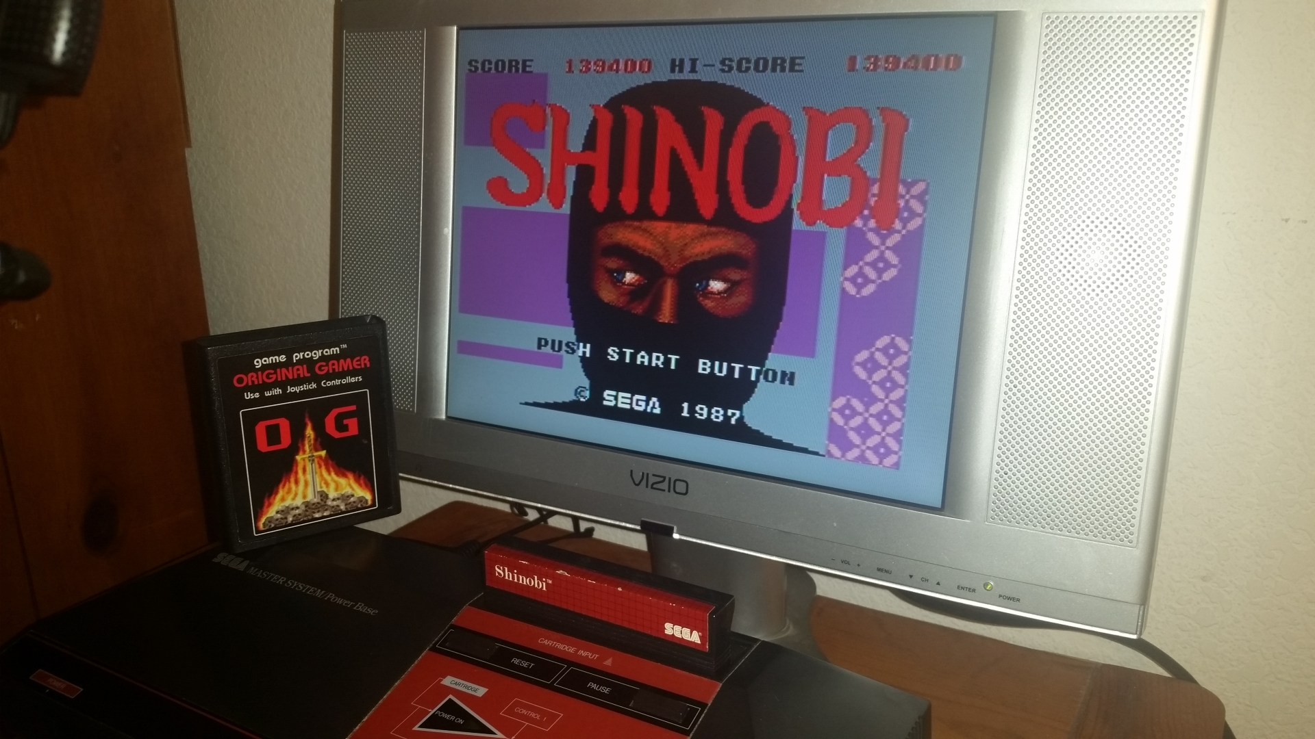 OriginalGamer: Shinobi (Sega Master System) 139,400 points on 2016-11-17 23:41:59