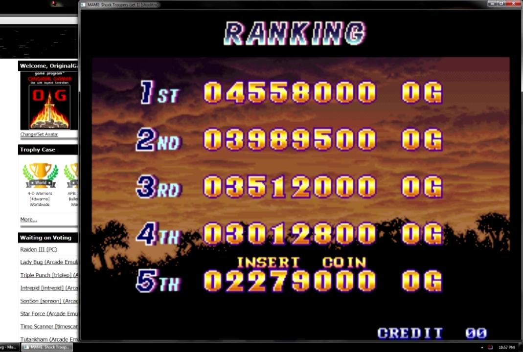 OriginalGamer: Shock Troopers (Neo Geo Emulated) 4,558,000 points on 2015-07-31 00:41:01