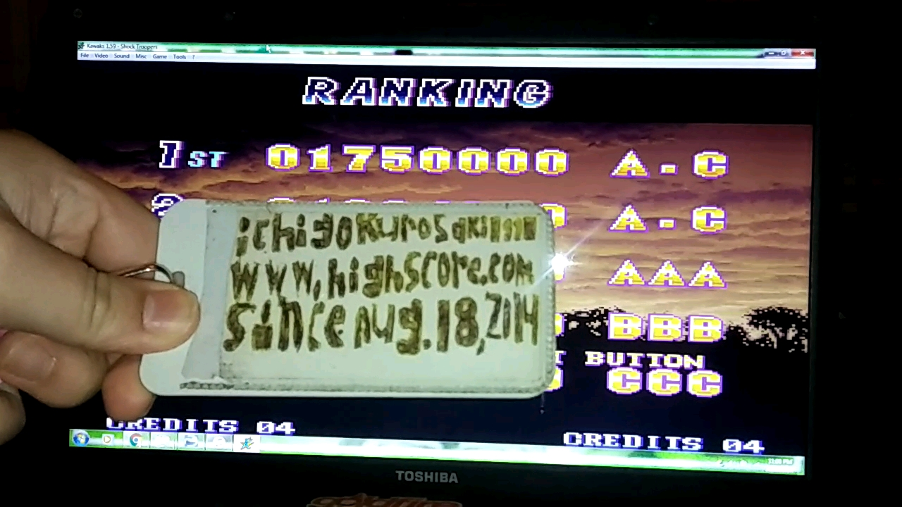 Shock Troopers 1,750,000 points