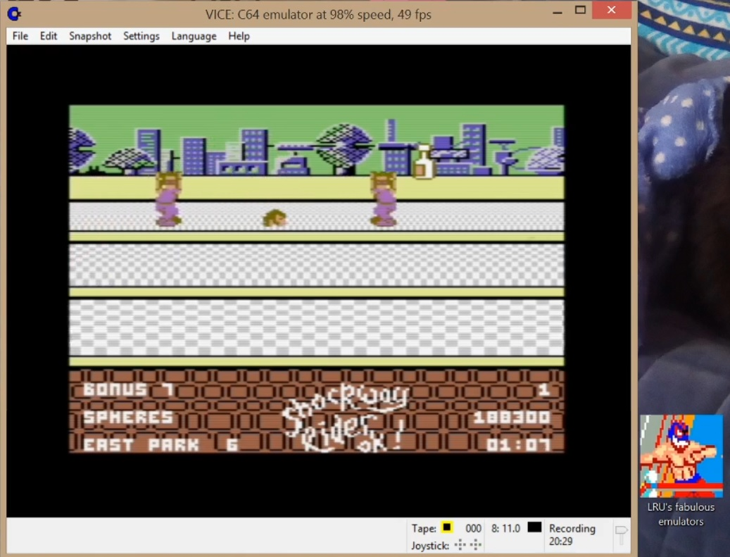 LuigiRuffolo: Shockway Rider [Not Practice Mode] (Commodore 64 Emulated) 188,300 points on 2020-06-16 11:15:11