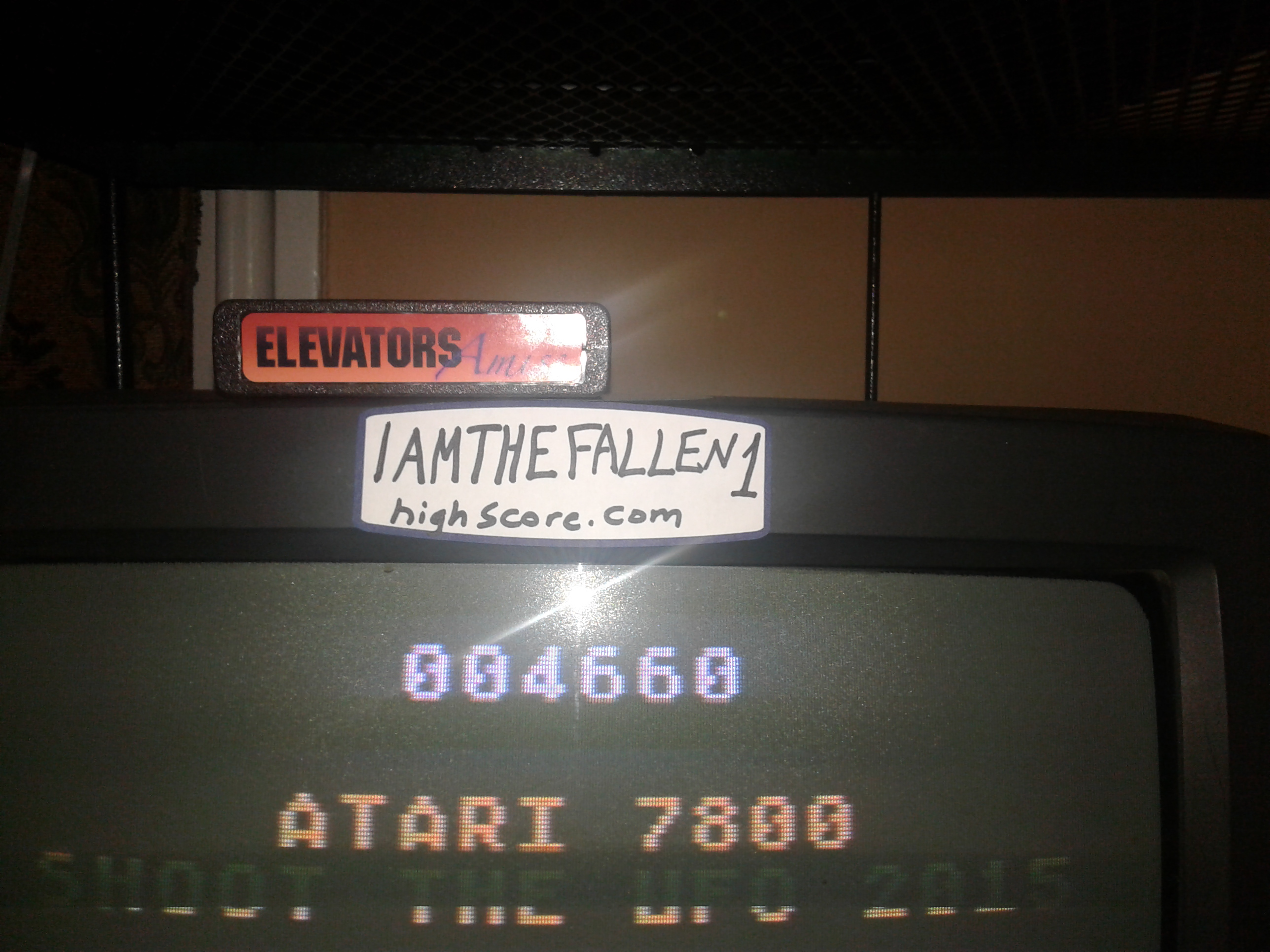 iamthefallen1: Shoot the UFO (Atari 7800) 4,660 points on 2017-12-28 17:58:36