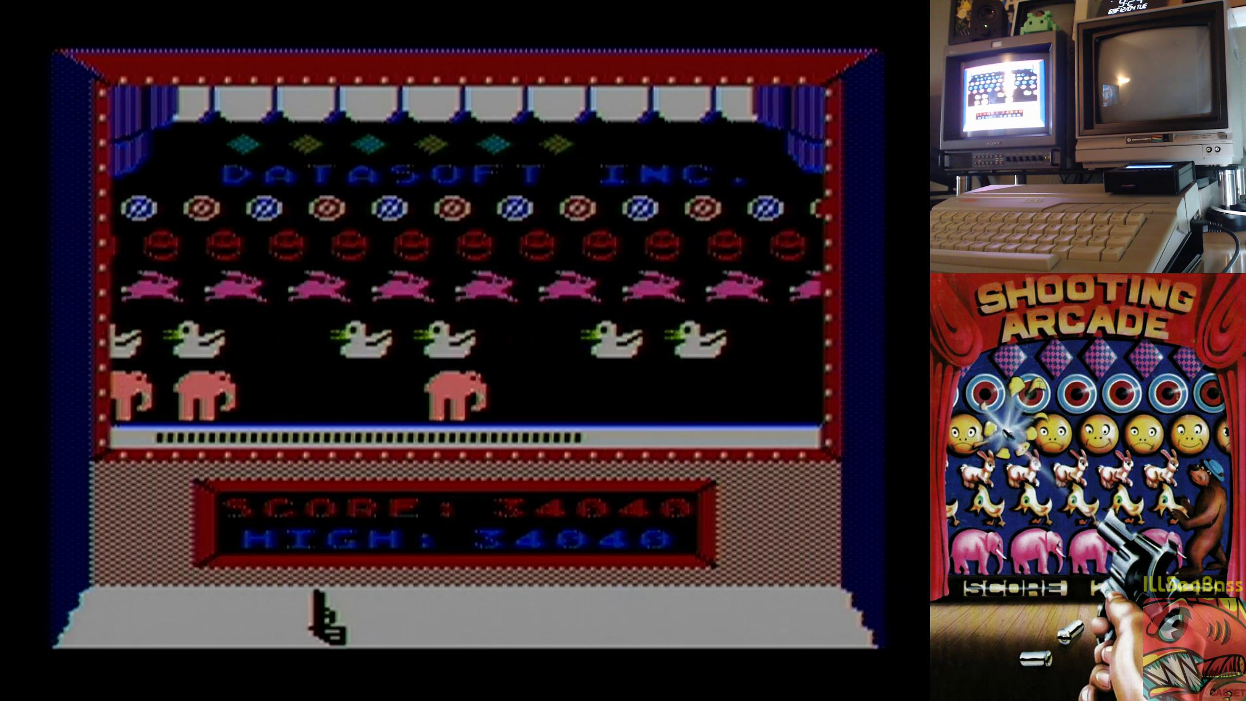 ILLSeaBass: Shooting Arcade (Atari 400/800/XL/XE) 34,040 points on 2018-12-05 20:28:39