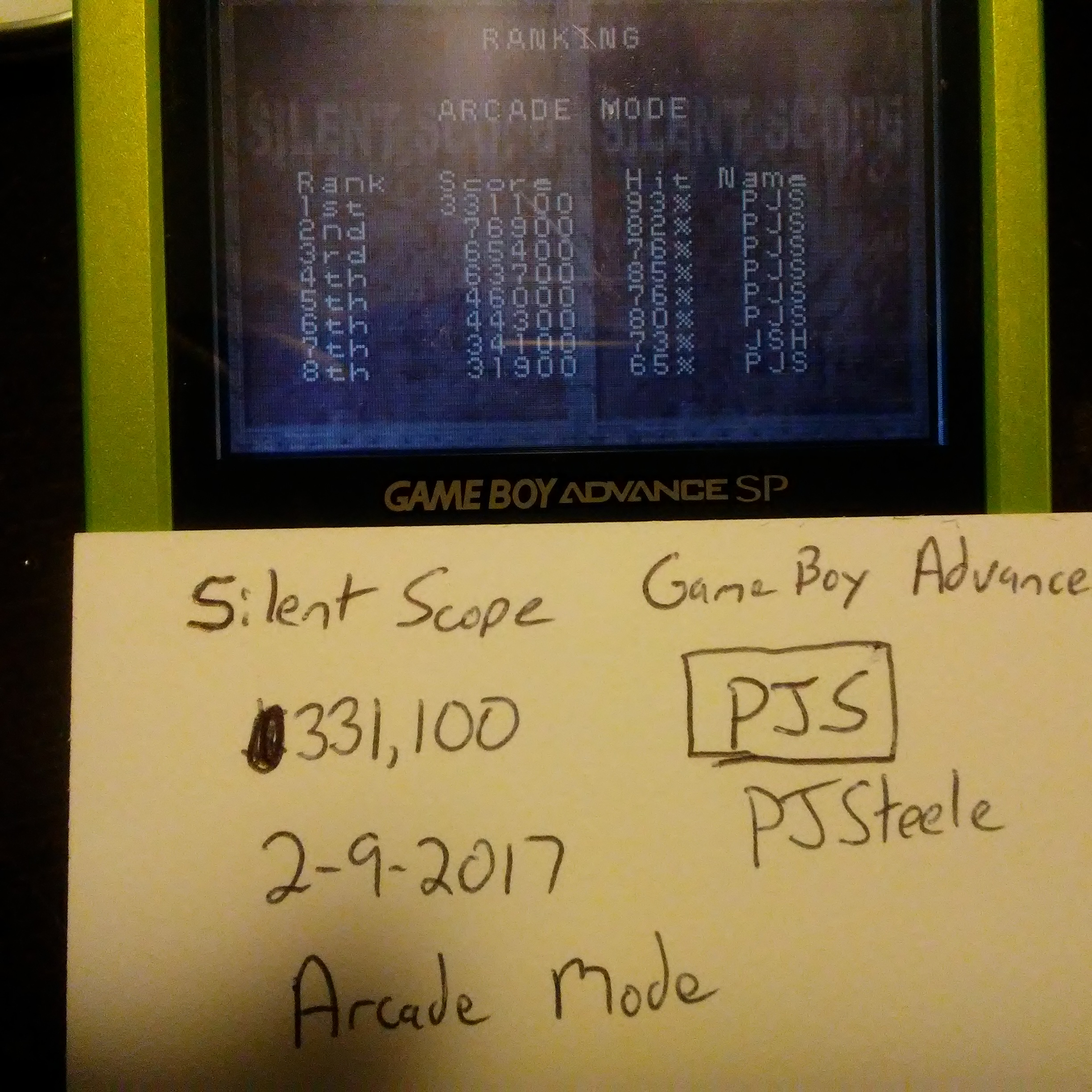 Pjsteele: Silent Scope [Arcade Mode] (GBA) 331,100 points on 2017-02-09 15:39:06