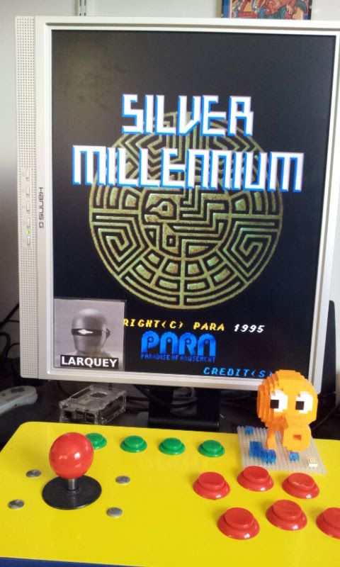 Larquey: Silver Millennium [silvmil] (Arcade Emulated / M.A.M.E.) 44,810 points on 2017-02-19 10:51:36
