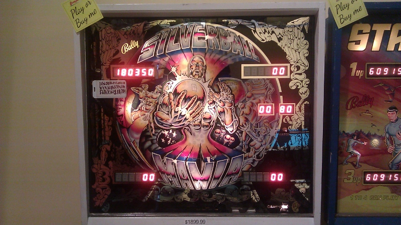 Silverball Mania 180,350 points