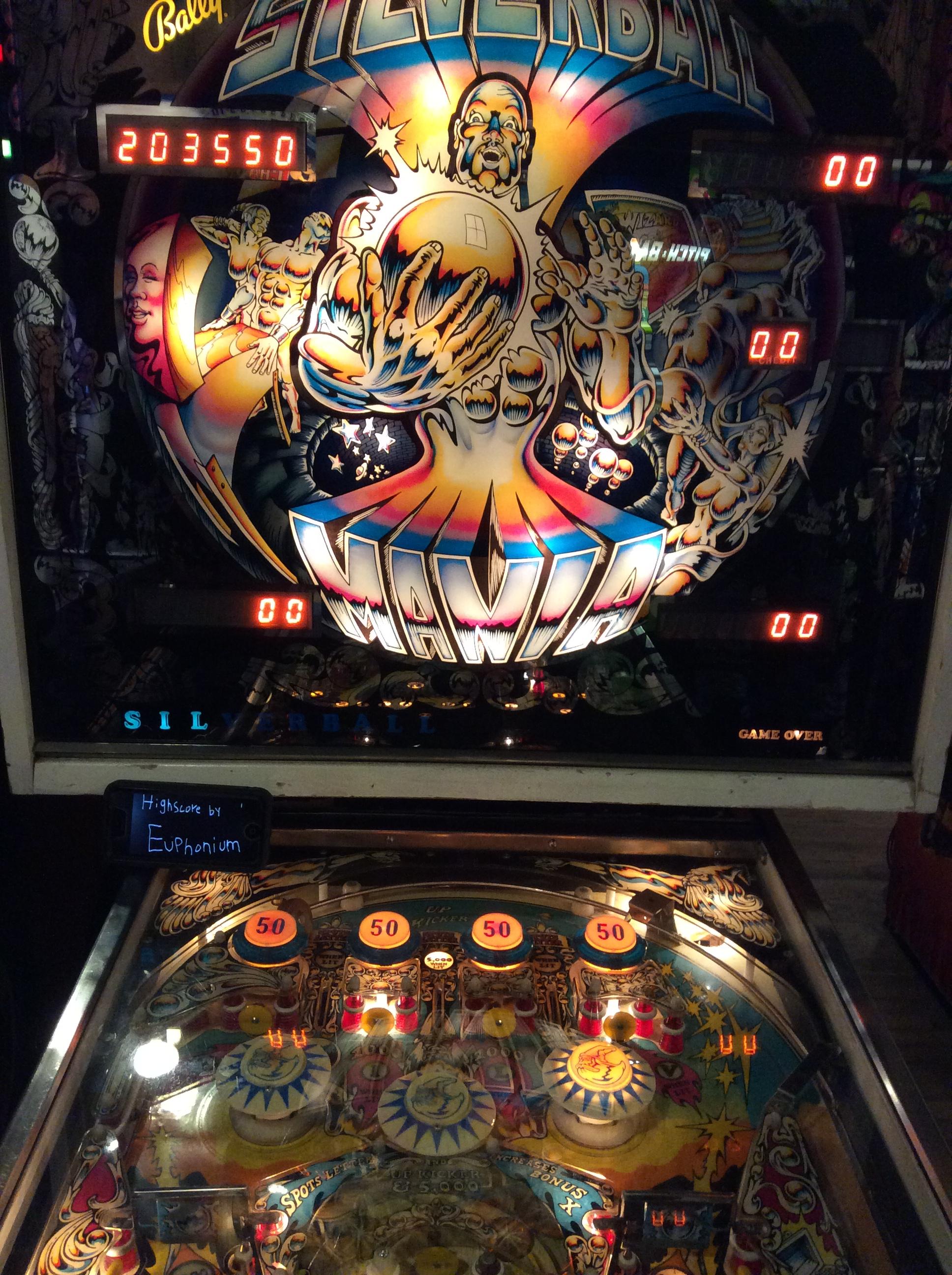 euphonium: Silverball Mania (Pinball: 3 Balls) 203,550 points on 2016-08-31 08:08:28