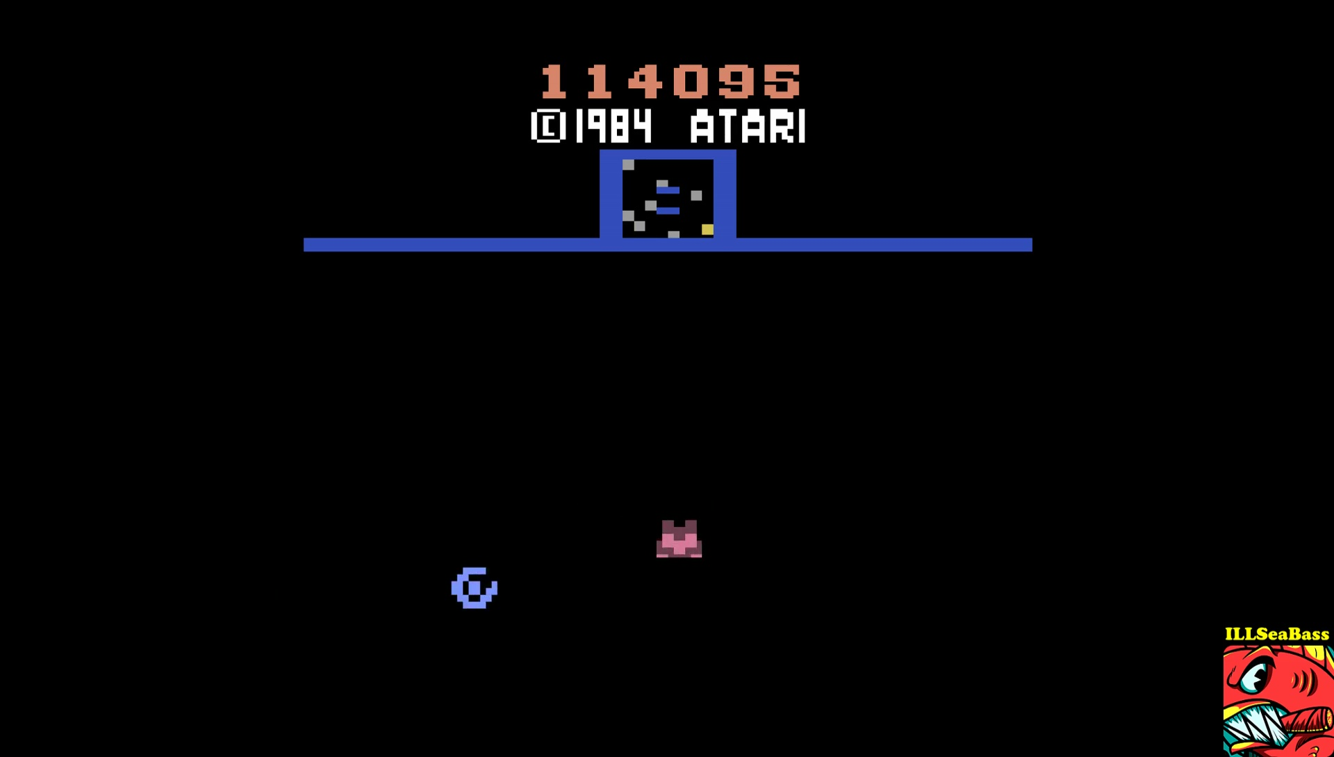 ILLSeaBass: Sinistar (Atari 2600 Emulated) 114,095 points on 2017-05-21 22:35:44