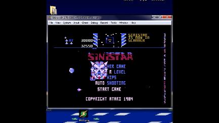S.BAZ: Sinistar (Atari 5200 Emulated) 32,550 points on 2019-09-18 18:50:31